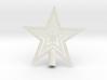 """Star Glisten Tree Topper - 9cm 3½"""" 3d printed"""