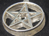 Light up pentacle necklace (front) 3d printed After the back is glued on