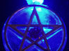 Light up pentacle necklace (front) 3d printed It glows