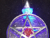 Light up pentacle necklace (front) 3d printed Complete with center