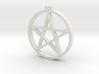 Light up pentacle necklace (back) 3d printed