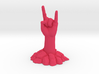 Zombie Hand raising the horns from the ground 3d printed