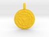 SOLAR PLEXUS MANIPURA Chakra Symbol Pendant 3d printed
