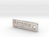 Material Sample - Sample Stand (ALL MATERIALS) 3d printed