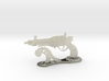 1:6 scale Steampistol with Display Stand 3d printed