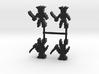 Pirate Skeleton Meeple, peg leg, 4-set 3d printed