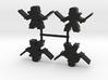 Ninja Meeple, dual katanas, 4-set 3d printed