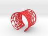 Voronoi bracelet #1 (LARGE) 3d printed