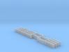 Concrete Art Deco Railing (N scale) 3d printed