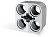 2x2 Lego Technic Beam 2.42mm pin holes 3d printed