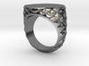 Mens Geometric Signet Ring 3d printed Geometric Signet Ring