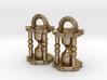 Hourglass Earrings 3d printed
