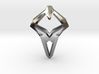 HEART TO HEART Sharpy, Pendant. Sharp Elegance 3d printed