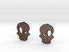 Eyebrow Skull Earrings 3d printed