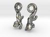 Chameleon Earrings 3d printed