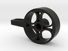 Steering wheel with thumb tab for Spektrum DX4C V2 3d printed