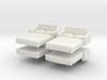 Sofa Bed (x4) 1/144 3d printed