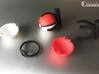 Small pokeball - Upper half - 1:1 scale 3d printed