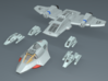 1/670 Voyager Shuttlecraft Pack 3d printed