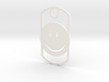 Happy face dog tag 3d printed