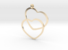 2 Hearts necklace pendant 3d printed