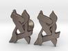 """Hebrew Monogram Cufflinks - """"Bais Aleph"""" 3d printed"""