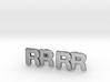 Monogram Cufflinks RR 3d printed
