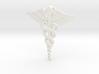 Caduceus Tie Bar (Plastics) 3d printed