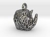 Tribal Rhino Voronoi Pendant 3d printed