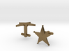 Sheriff's Star Cufflinks (1) Silver,Brass, or Gold 3d printed