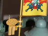 MOTUC Castle Grayskull Flagpole Antenna 3d printed Painted and assembled prototype, printed in White Strong & Flexible Polished