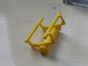 Small Roller Coaster paperweight (Vekoma/Arrow) 3d printed Printed in yelllow plastic