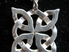 4 Clover Knot - Pendant 3d printed Back view. Actual Product Image. Shown in polished silver. Chain not included