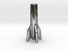 V2 Rocket Cigarette Stubber 3d printed V2Rocket Cigarette Stubber in polished silver