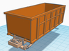 1/87th 10 foot Roll off type Dumpster 3d printed shown on truck body, available separately