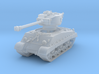 M4A3E8 Sherman 76mm (sandshield) 1/144 3d printed