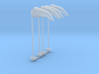 Airport Windsock and Pole (x4) 1/160 3d printed