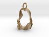 white shark jaw pendant 3d printed