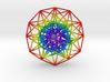 Toroidal 6D Hypercube Rainbow 200mm diameter 3d printed SW Auto Render