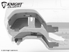 VP20011 VS410 JL Rear Inner Fenders 3d printed Parts available in both Grey PA12 and Black PA12.
