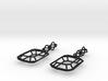Future Victorian Emerald Earrings 3d printed
