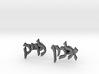 "Hebrew Name Cufflinks - ""Zalman Levik"" 3d printed"