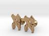 "Hebrew Monogram Cufflinks - ""Hay Aleph"" 3d printed"