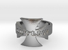 Outlaw Biker Iron Cross Logo Ring Size 13 3d printed