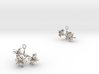 Amaryllis earring with three small flowers 3d printed