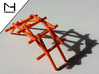 Leonardo Da Vinci's self supporting bridge (Small) 3d printed Self supporting bridge