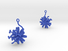 Chicory earring with one large flower 3d printed