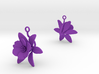 Pomegranate earring with one large flower 3d printed