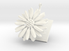 Daisy pendant with one large flower 3d printed