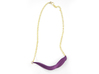 Arithmetic Necklace (Bar) 3d printed Custom Dyed Color (Eggplant)